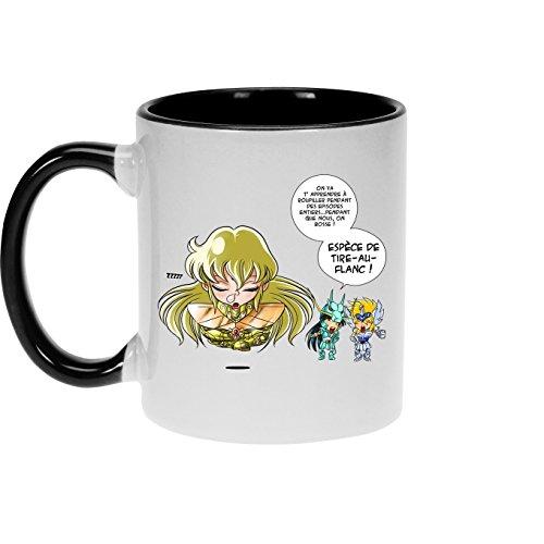 Mugs Saint Seiya - Les Chevaliers du zodiaque parodique Shiryu du Dragon, Hyoga du Cygne et Shaka : La technique interdite: le Roupillon du Lotus !! (Parodie Saint Seiya - Les Chevaliers du zodiaque)