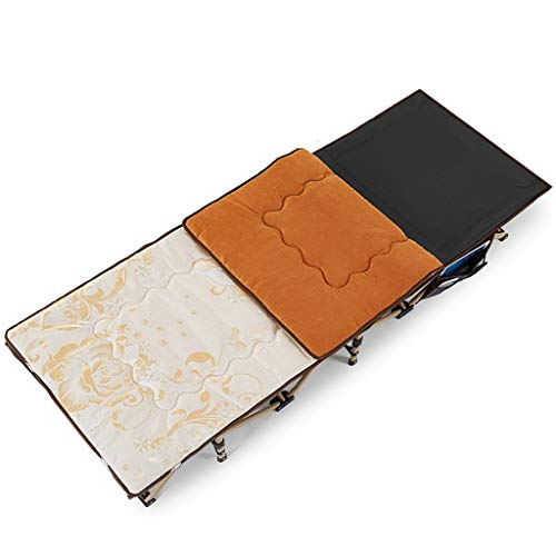 YXQ Vier Jahreszeiten Klappbett - Einzelbett, Nickerchenbett, 400 kg Belastung, Campingbett (190 cm) (Farbe : Dark Grey) -