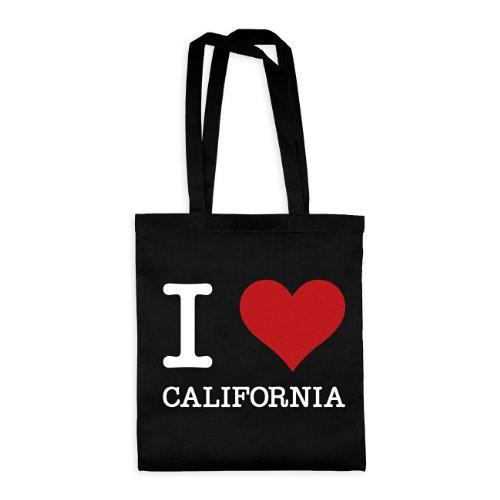 dress-puntos Baumwolltasche I Love California drpt-bwt00866-2 Textil black / Motiv weiss - 42 x 38 cm (Kalifornien Kostüme)
