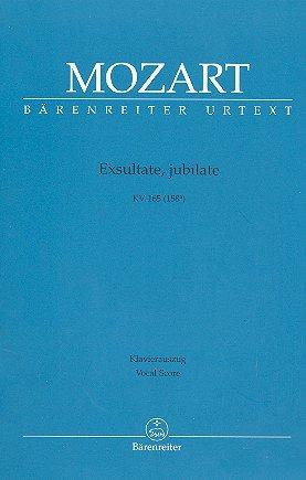 Wolfgang Amadeus Mozart: Exsultate, jubilate KV 165 (158a) Motette für Sopran solo und Orchester -- Klavierauszug mit Bleistift in der Bärenreiter Urtext Edition (Noten/sheet music)