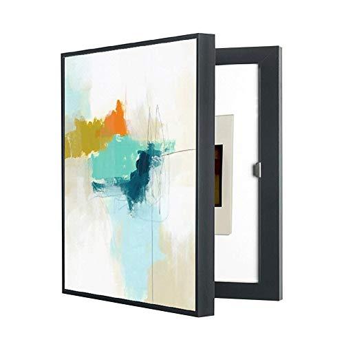 Pintura decorativa caja medidor eléctrico cubierta