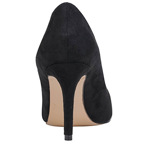 MERUMOTE - tacco alto sottile donna Black-Suede