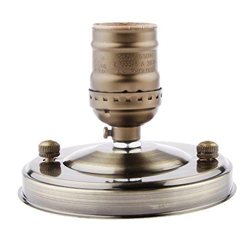 Preisvergleich Produktbild AC110-220V Metalldecken E27 Glühbirne Lampenfassung Antikmessing