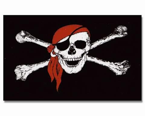 Flagge Fahne Pirat mit Kopftuch -26706-