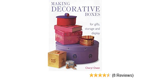 Making Decorative Boxes For Gifts Storage And Display Amazonco Cool Making Decorative Boxes