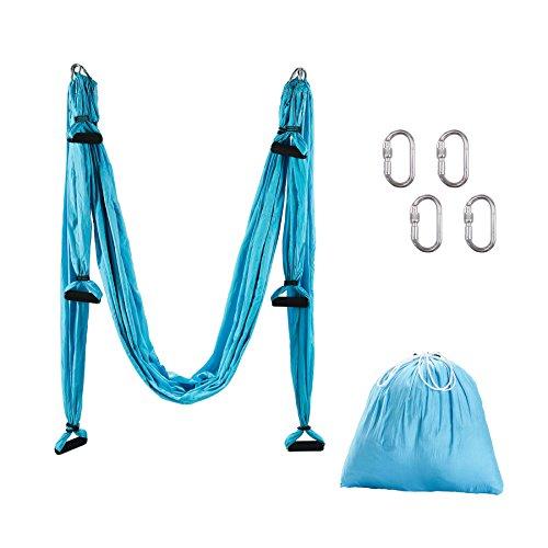 CO-Z Aerial Yoga Sling Air Fliegen Hängematte Yoga Schaukel Tuch Swing Silk Hammock Fitness Anti Schwerkraft Anti Gravity Schwingen (Blau)