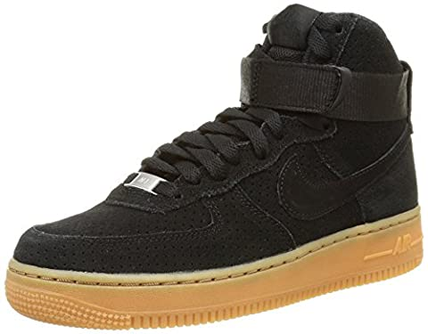 Nike Damen Wmns Air Force 1 Hi Suede Sport & Outdoorschuhe, Black/Black, 38 EU