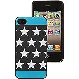 Mocca Design CI4S70 Coque pour iPhone 4/4S Motif Etoiles Bleu Phosphorescente