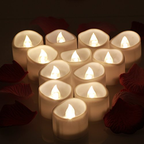 OMGAI flicke Anillo LED 12/24Flameless Electric Candles Tea Lights Including Battery Companies