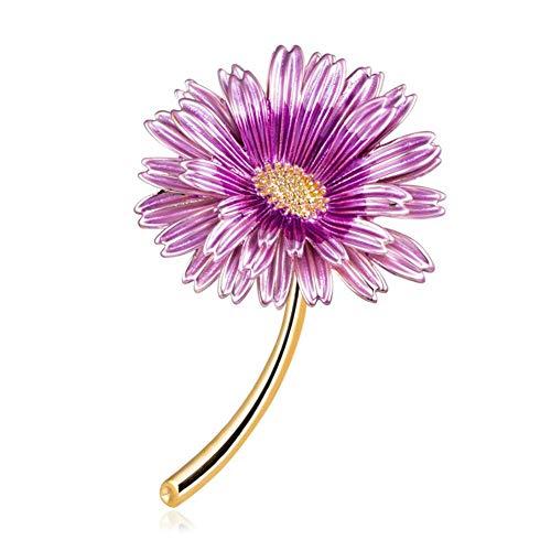 Frauen Daisy (Broschen Für Frauen, Daisy Blume Zubehör Retro Geschenke Braut Auf Bankette Prom Hochzeiten Dekor Elegante Vintage Schmuck Für Männer Mädchen Kleidung Schal Purple)