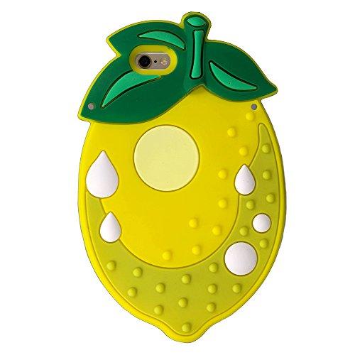 Citron de forme 3D en caoutchouc de silicone caoutchouc de silicone pour iPhone housse étui SE © Sloth Cases
