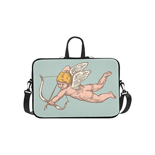 Lustiger Amor Charakter Mit Bogen Und Flügel Muster Aktentasche Laptoptasche Messenger Schulter Arbeitstasche Crossbody Handtasche Für Geschäftsreisen -