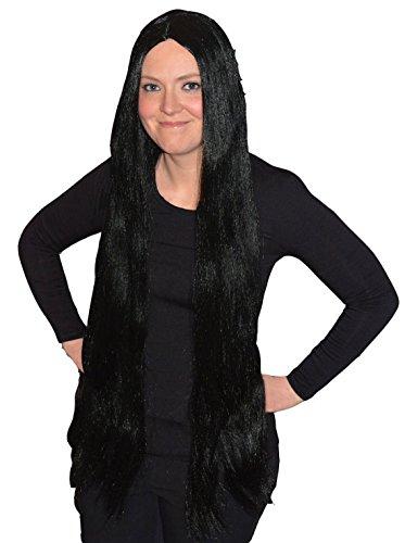"""Islander Fashions Damen 36 Zoll Gerade Lange per�Cke Damen Fancy Halloween Party Tragen Zubeh�r Schwarz 36 """""""