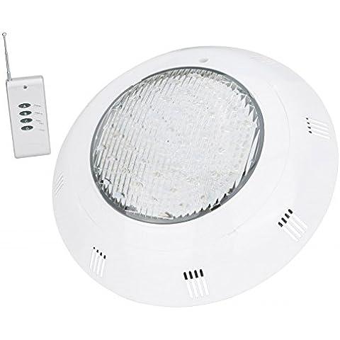 Foco de Piscina de LEDs Ojo de Buey Montaje Pared 351 LEDs 25W RGB con Mando