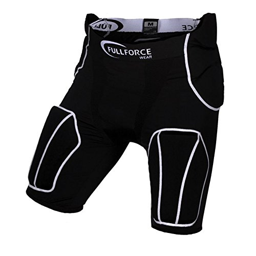 Full Force American Football 5-Pocket Hose mit 5 eingenähten Pads, bk, S