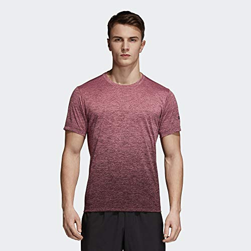 adidas Herren Freelift Gradient Kurzarm T-shirt, braun (Trace Maroon/Night Red), S