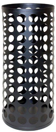 JOKARI Weinkork Vase/Stumpenkerzenhalter, 12,7 x 30,5 cm, Mattschwarz
