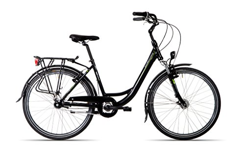 HAWK BIKES GREEN CITY PLUS WAVE   BICICLETA PARA MUJER MUJER CITY BIKE CON MARCO DE ALUMINIO Y 7 DE MARCHAS