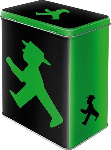 Vorratsdose Blechdose Ampelmann grün L 10 x 14 x 20 cm - Viele weitere tolle Ampelmanndosen und...