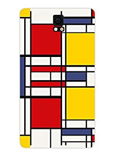 Samsung Note 5 Covers & Cases - Abstract Art Rectangles - Designer Printed Hard Shell Case
