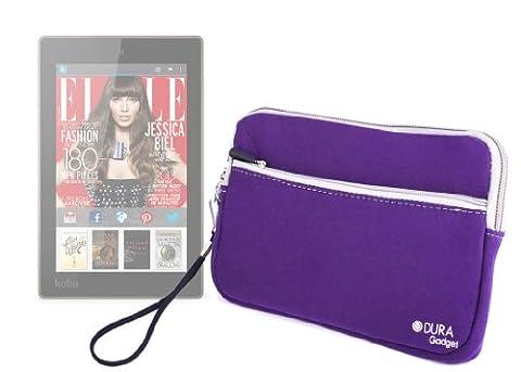 DURAGADGET Housse étui durable en néoprène violet résistant à l'eau pour tablette Kobo Aura H2O sortie en septembre 2014 - Garantie 5