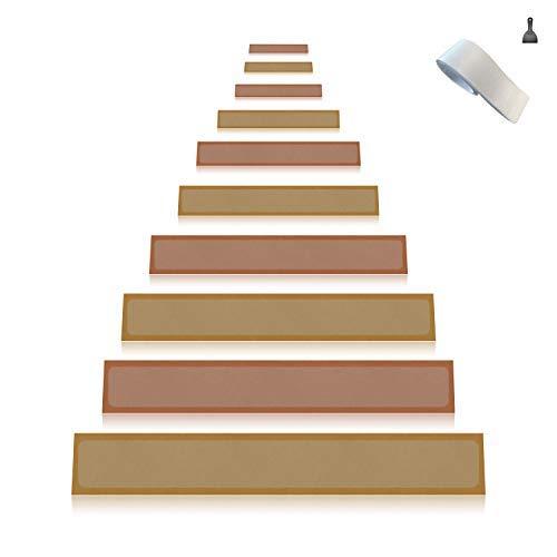 Any Beauty 15er Pack (10 x 60 cm) rutschfest stufenmatten transparent klar selbstklebend Stufenmatte Treppen stufe antirutsch, Anti Rutsch Clear Adhesive Strips Klebestreifen, Baby/ältere/Pet, Indoor