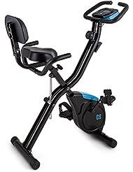 CAPITAL SPORTS Azura X2 X-Bike • Ergometro • Hometrainer • Fitness-Bike • Cardio-Bike • Trainingscomputer • Resistenza Regolabile 8 Livelli • Supporto Schienale e Laterale • Diversi Colori e Modelli