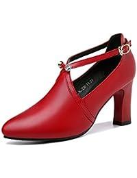 34 Amazon es Para De Tacon Mujer Rojos Zapatos rqvq7X4