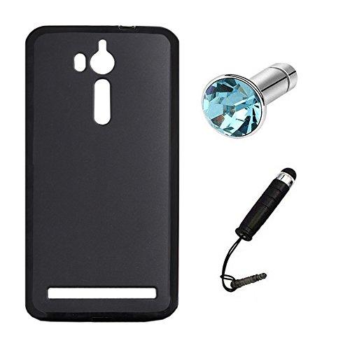 Lusee® Silikon TPU Hülle für Asus ZenFone Go ZB552KL / Go TV ZB551KL 5.5 zoll Schutzhülle Case Cover Protektiv Silicone schwarz