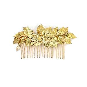 Göttin Blattgold Tiara Kamm – Bridal Hochzeit Haar Clip Haarband Mum Stirnband Kämme Griechisch Zubehör