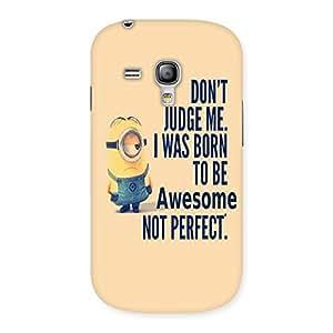 Premium Quote Minio Yel Back Case Cover for Galaxy S3 Mini