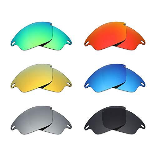 MRY 6Paar Polarisierte Ersatz Gläser für Oakley Fast Jacket Sonnenbrille