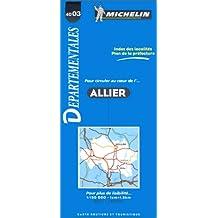 Carte routière : Allier, 4003, 1/150000
