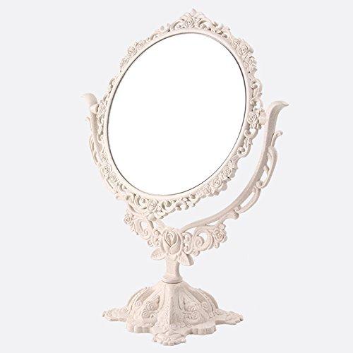 ZREAL Maquillage Miroir Bureau Rotatif Gothique Miroir Papillon Rose Décor Beauté Outil