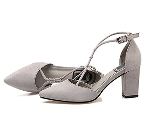 XTIAN , Hi-Top Slippers femme Gris