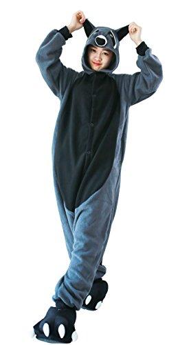 Waschbär Kostüm Damen Jumpsuit Schlafanzug Tier Pyjamas Fasching Onesie Herren Karneval Cosplay Nachtwäsche