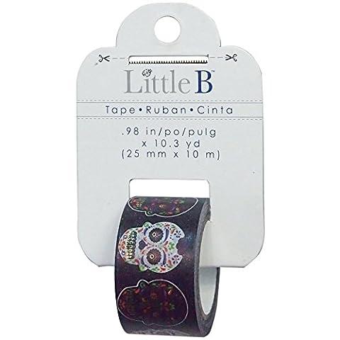 Little B Decorative Foil Tape 25mmX10m-Sugar Skulls
