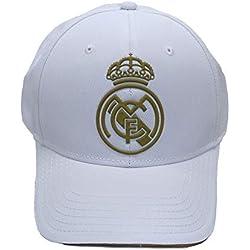 Real Madrid FC RM3GO19P Gorra Ajustable Real Madrid-Blanco/Oro-2019-2020, Juventud Unisex, Blanco/Oro, Infantil