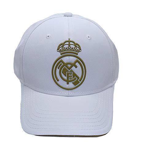 Real Madrid FC RM3GO19P Gorra Ajustable Real Madrid-Blanco/Oro-2019-2020