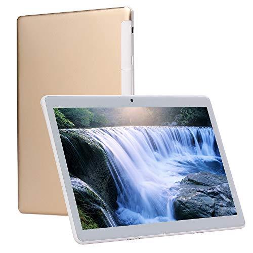 10 Zoll Android entriegelt 4G-Handy Tablet 4 GB RAM 64 GB ROM bis zu 64 GB Speicher, Octa-Core Dual-SIM-Kartensteckplätze, Dual-Kamera 5 + 8MP WiFi-GPS-Spiel Google Play HD IPS-Bildschirm (Gold)