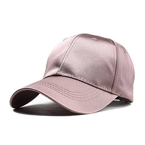GBY Hat Female Black Cap Male Travel Leisure Wild Shade Korean Baseball Cap Street Hipster (Color : Rose gold, Size : 56-60CM)