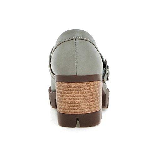RAZAMAZA Scarpe Con Tacco Alto Blocco Donne Modello Scivolare Su Nappa 2004 grigio