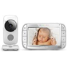 Motorola mbp48Baby Monitor video digital con pantalla LCD a colores de 5.0pulgadas, Blanco