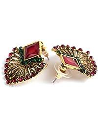 Pendiente retro bohemio del estilo de la vendimia, moda piedras preciosas artificiales en forma de