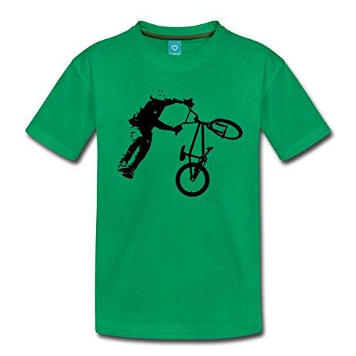 Spreadshirt BMX Dirt Jump Teenager Premium T-Shirt, 158/164 (12 Jahre), Kelly Green (Frauen Dirt Bikes)