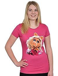 Muppets Girlie Shirt - Miss Piggy - Portrait - Licensed - Slim Fit - Cotton - Pink
