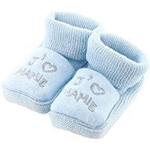 zapatitos de bebé 0-3 Meses azul - Me encanta la abuelita