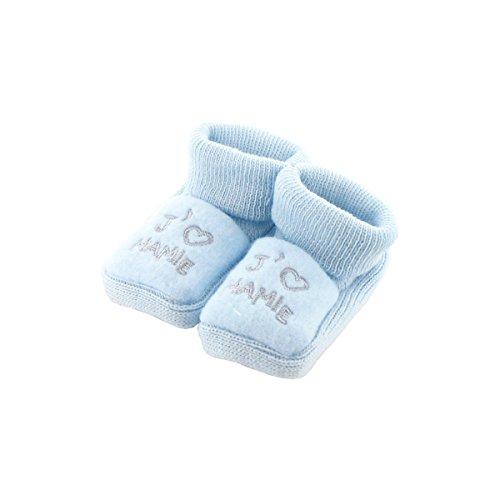 Chaussons pour bébé 0 à 3 Mois bleu - J'aime mamie