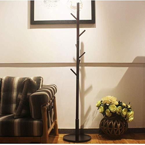 Kleiderständer Lagerregal Europäischen massivholz Garderobe - kreative disc Boden Schlafzimmer Wohnzimmer Boden hängen kleiderständer - Kleiderständer mit 7 Haken für Kleidung Schals und Hüt -