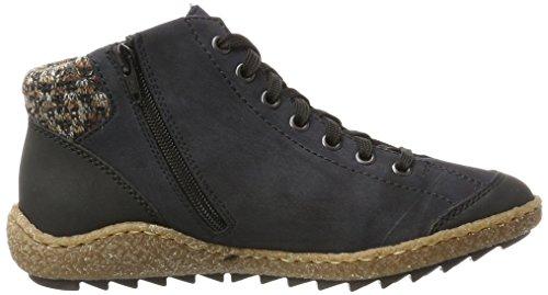 Rieker M2941, Sneaker a Collo Alto Donna Blu (Schwarz/pazifik/terra)